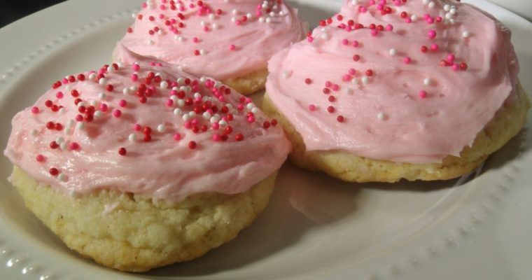 Soft and Chewy Sugar Cookies with Butter Cream Frosting