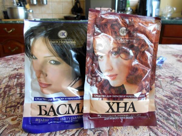 Henna och basma hår