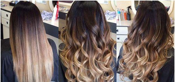 Hårfärg på långt mörkt hår