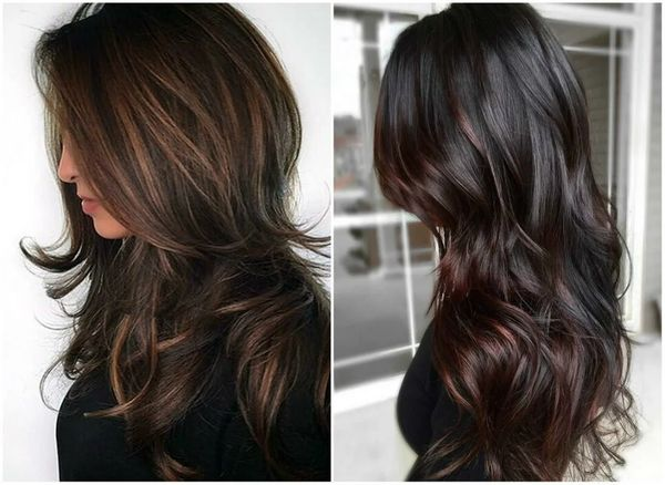 Mörk hårfärgning