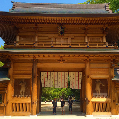 Omishima Shrine's new gate