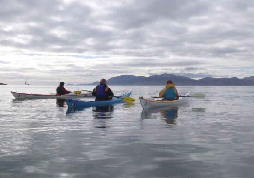 Women's sea kayaking weekend, Carry Farm, Argyll