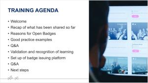 Open Badges_Training Agenda