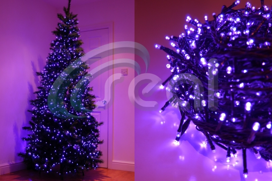 led christmas lights uvpurple