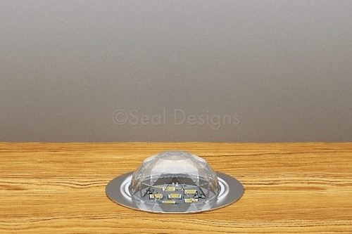10 x 45mm Crystal Dome Kit – Warm White – Stainless Steel Bezel