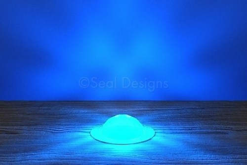 10 x 30mm Crystal Dome Kit – Blue – Copper Bezel