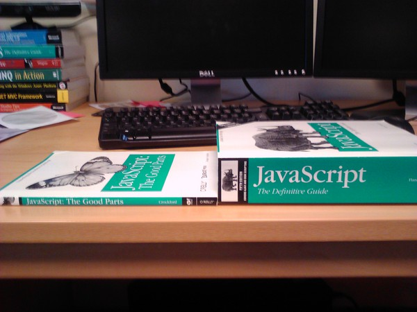 Javascript the good parts (125 Pages) Javascript the Definitive Guide (1100 pages)