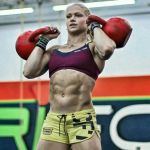 crossfit girl annie red kettlebells