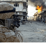 US Marines Devil Dogs street fighting combat in Iraq