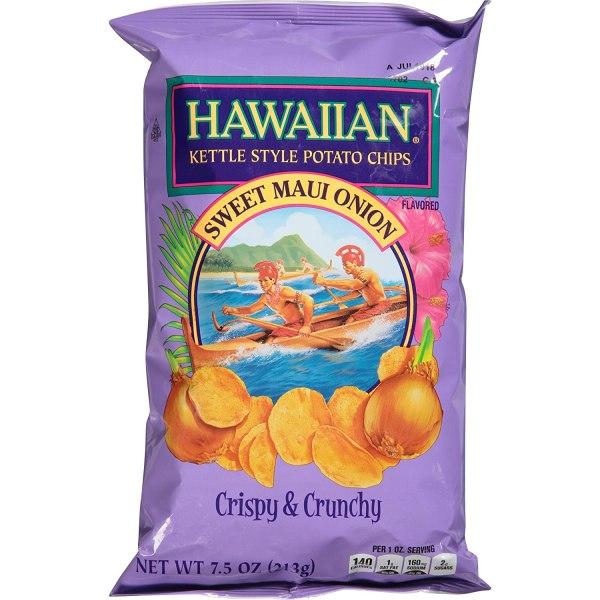 Hawaiian Sweet Maui Onion Flavored Kettle Style Potato Chips