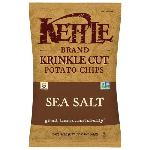 Kettle Brand Krinkle Cut, Krinkle Cut Sea Salt Kettle Chips