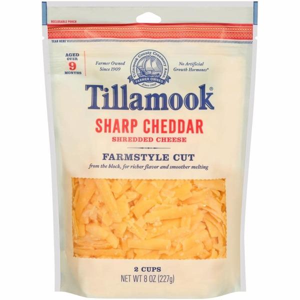 Tillamook Shredded Cheese Sharp Cheddar item details