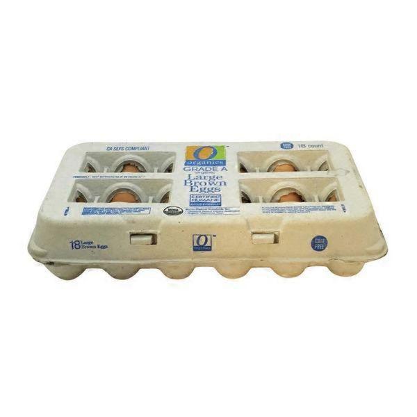 O Organics Eggs, Brown, Large, Organic