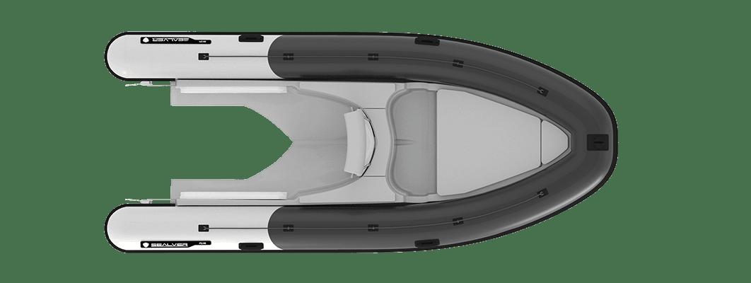 Sealver, waveboat, wave boat, wb 575, 5m, jetboat, bateau jetski, vue de haut, plan de pont, upper view, deck view, rib, semi-rigide, semirigid,
