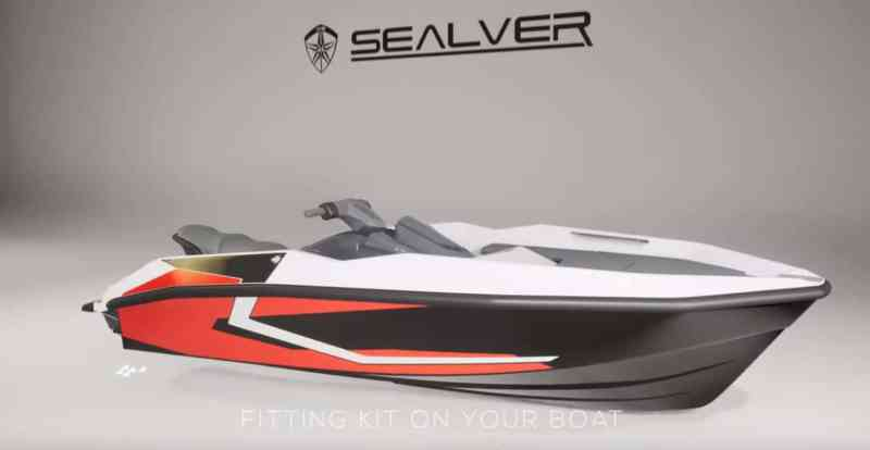 Wave boat WB 444 - with Yamaha FX HO Cruiser 2019 turned into waveboat - tranformez votre jetski Yamaha FX HO Cruiser en bateau