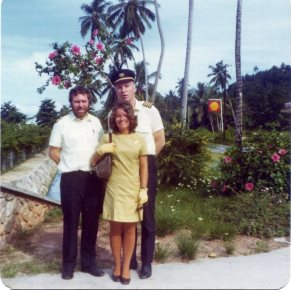 Submitted by Joy Merron (photo of her sister), 1974, Seychelles - This was the best uniform I had in my time with B.M.A. as it was very comfortable and practical to wear. This was our tropical uniform.