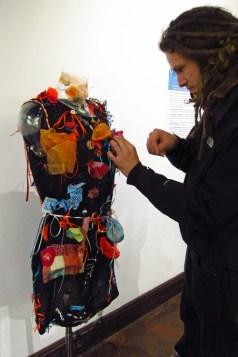 More work on same graffiti dress at Trowbridge Arts