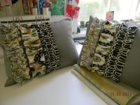 funky gathered pillows
