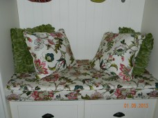 Seat cushion and toss pillows for the entry 2012