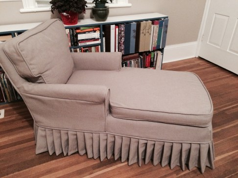 Chaise side view slip cover 2015
