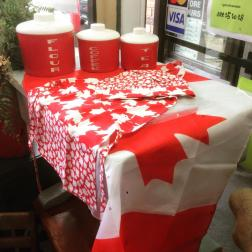 Canada Day aprons and chef hats