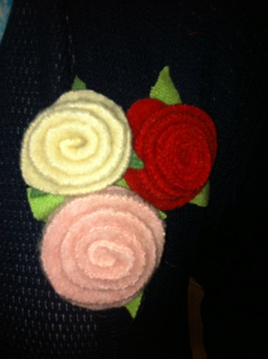 Felted wool roses 2014