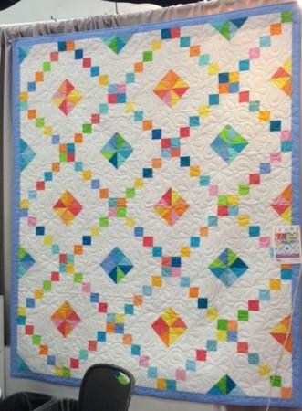 bright quilt, easy quilt