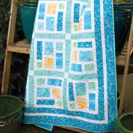 Sea Glass Quilt in Soft Dreams fabric