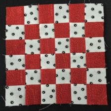 red and white block