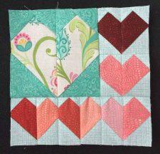 heart quilt block