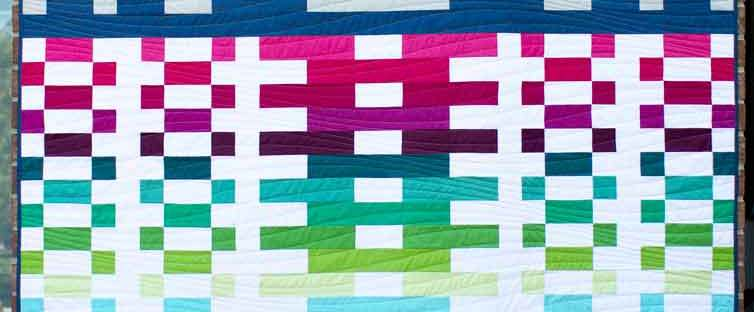 Lighthouse Steps - strip quilt pattern by Kate Colleran