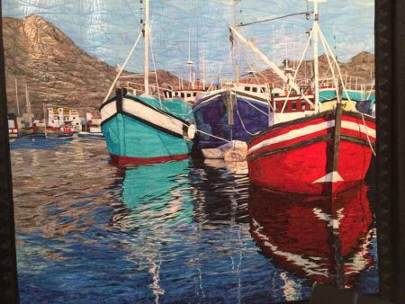 Cynthia England's quilt Reflections of Cape Town