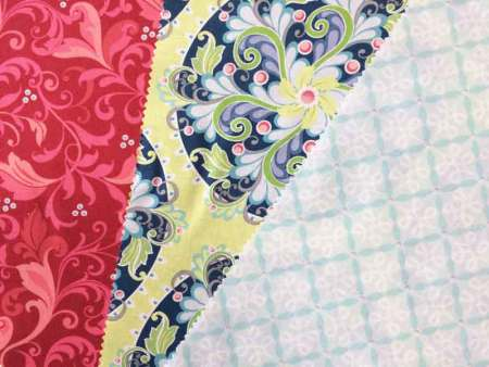 Wonky 9 Patch Tutorial featured by top US quilting blog and shop, Seams Like a Dream Quilt Designs: 3-fabrics