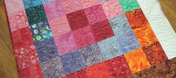batik baby quilt
