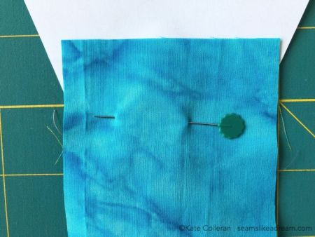 Paper Piecing Quilt method, a tutorial featured by top US quilting blog and shop, Seams Like a Dream Quilt Designs