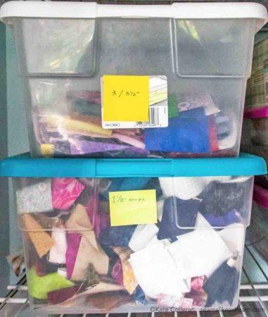 fabric strip storage