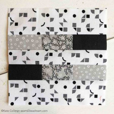 black and white quilt block