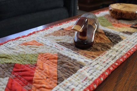 Braid Quilt Table Runner featured by top US quilting blog and shop, Seams Like a Dream Quilt Designs