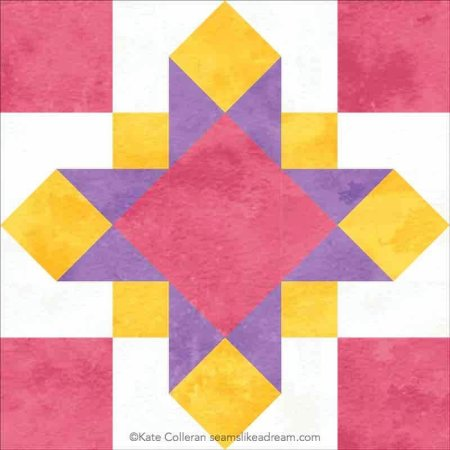 Luminous Quilt Along Project: Block 2, Eos featured by top US quilting shop and blog, Seams Like a Dream Quilt Designs.