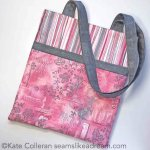 Making It Breast Cancer Series: Quilted Tote Bag with Soulful Shades of Pink Fabric