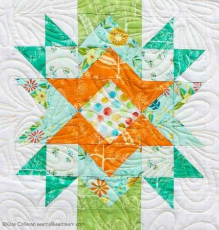 The Stars Aligned Quilt Pattern, featured by top quilting blog, Seams Like a Dream Quilt Designs, shows off a new star quilt pattern!