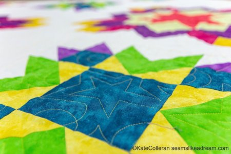Luminous Quilt Along Project: Quilt Setting, by top US quilting blog, Seams Like a Dream Quilt Designs, reveals tips for the setting of the Luminous BOM quilt!