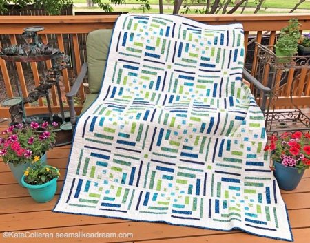 Breakout! A new modern log cabin quilt pattern, featured by top US quilt blog Seams Like a Dream.