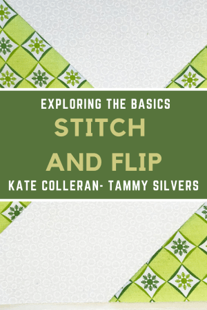 How to make a quilt block using the Stitch and Flip technique!