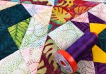 Quilting my Quilter's Color Play Challenge Quilt