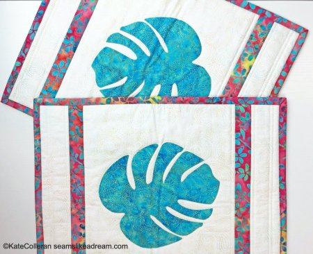 New Quilt Pattern- Tropical Breeze- an appliqué leaf pattern