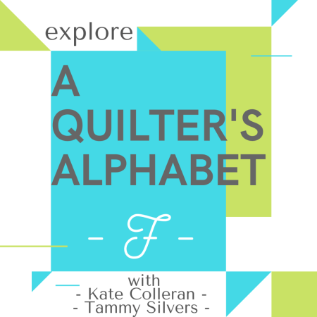 A Quilter's Alphabet, featured by top US quilting blog and shop Seams Like a Dream Quilt Designs explains F for Fat Eights, Fat Quarters, Flying Geese... and More!