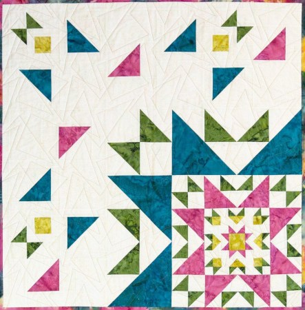 Top US quilting blog and shop, Seams Like a Dream Quilt Designs, shares her Dawn version of a new star quilt pattern Novalie!