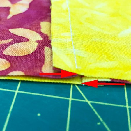 Top US quilting blog and shop, Seams Like a Dream Quilt Designs, explains about nesting seams in quilting in the Quilter's Alphabet series!