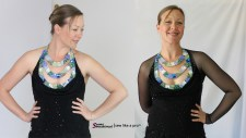 Add mesh sleeves to change the look of a Dancesport, Ballroom dance, Latin dance, Country or Skater dress.